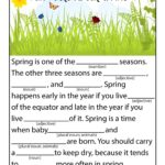 Spring Ad Libs Word Games