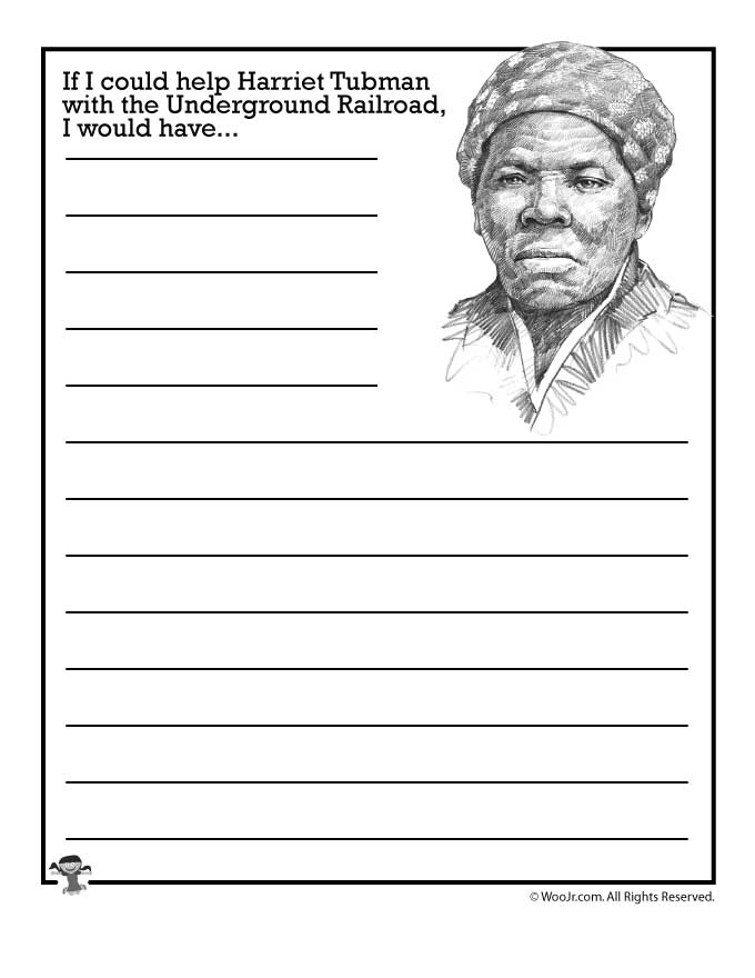 If I Could Help Harriet Tubman With The Underground Railroad. If I Could Help Harriet Tubman With The Underground Railroad Would Woo Jr Kids Activities. Worksheet. Harriet Tubman Worksheets At Mspartners.co