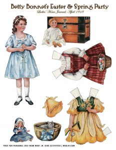 Free Betty Bonnet Easter Paper Dolls