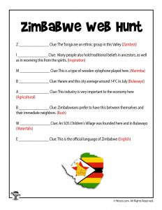 Zimbabwe Web Hunt Answer Key