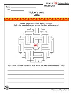 Anansi the Spider Activity Page