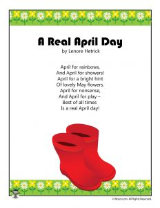 A Real April Day Spring Poem for Kids