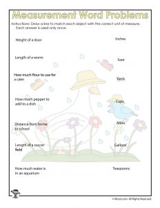 Units of Measurement Worksheet