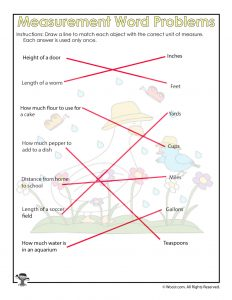 Units of Measurement Worksheet Answer Key