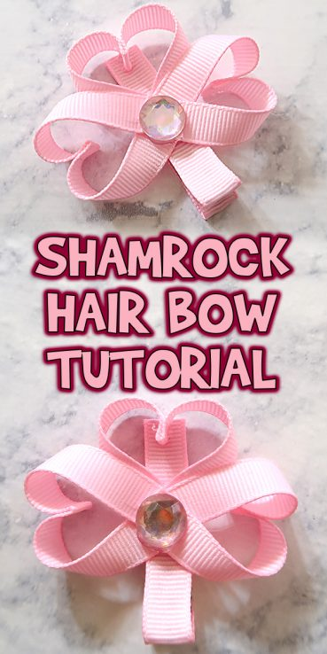 Shamrock Hair Bow Tutorial