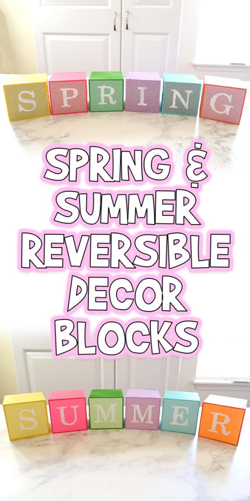 Spring and Summer Reversible Decor Blocks