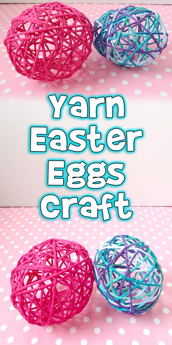 Yarn Easter Eggs Craft Woo Jr Kids Activities