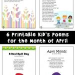 Kid's Poems for the Month of April