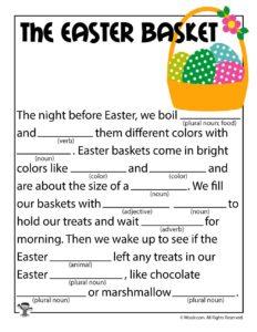 The Easter Basket Printable Ad Lib