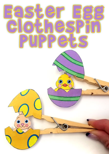 Surprise Easter Clothespin Puppets