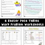 Data Tables Word Problem Worksheets for Easter