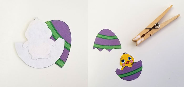 Easter Egg Clothespin Puppets Assembly