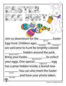 Easter Egg Hunt Ad Libs for Kids