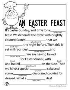 An Easter Feast Children's Ad Lib