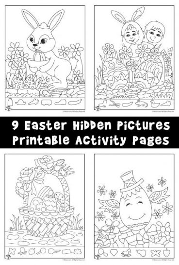 Easter Hidden Pictures Printable Activity Pages