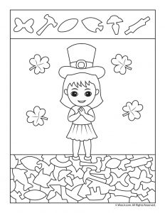 Irish Girl Hidden Picture Activity Page