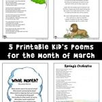 March Kids Poems to Print and Read