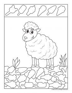 Spring Lamb I Spy Printable
