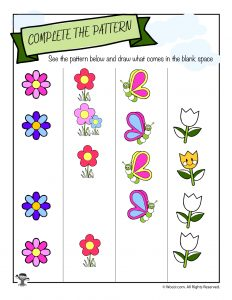Find the Pattern Spring Worksheet