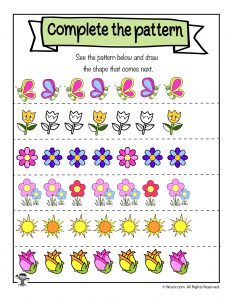 Spring Draw the Pattern Worksheet