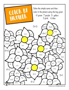 Spring Math Coloring Page