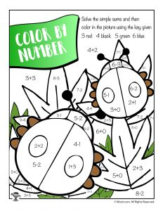 Spring Math Color by Number