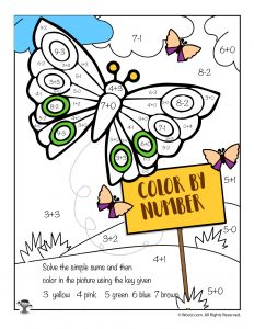 Butterfly Math Coloring Page