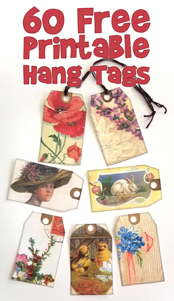 Printable Spring Gift Tags or Hang Tags