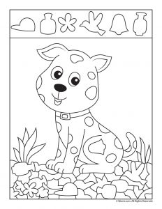 Cute Puppy Hidden Picture Page