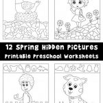 Spring Hidden Pictures Printable Preschool Worksheets