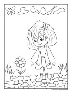 Spring Flower Hidden Picture Activity