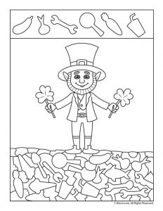 Leprechaun Hidden Picture Activity Page