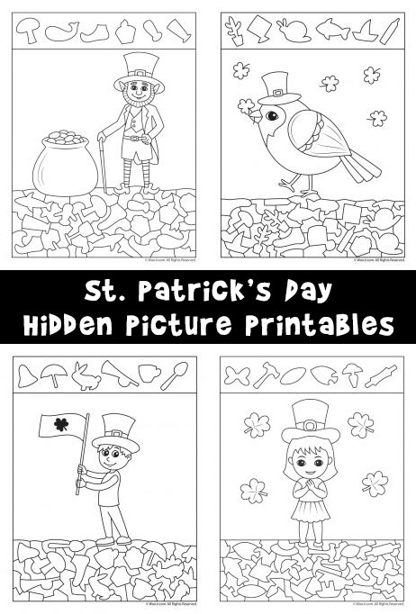 St Patrick S Day Hidden Picture Printables Woo Jr