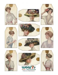 Victorian Women Hang Tags