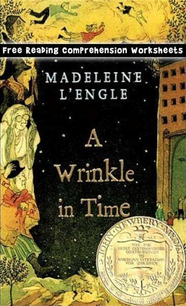 Free Wrinkle in Time Reading Comprehension Worksheets