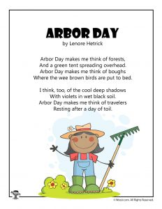 Kids' Poem for Arbor Day
