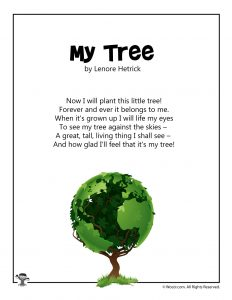 My Tree Arbor Day Poem