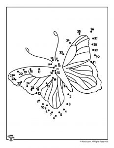 Butterfly Dot to Dot Printable