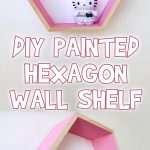 DIY Painted Hexagon Wall Shelf