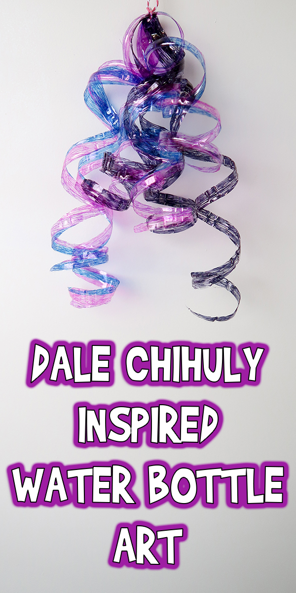 Dale Chihuly Inspired Water Bottle Art Project Woo Jr