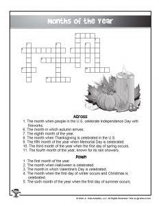 ESL Bilingual Crossword Puzzles