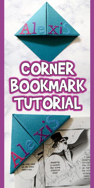 Easy Corner Bookmark Tutorial