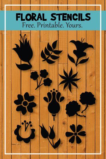 Printable Flower Stencils & Templates
