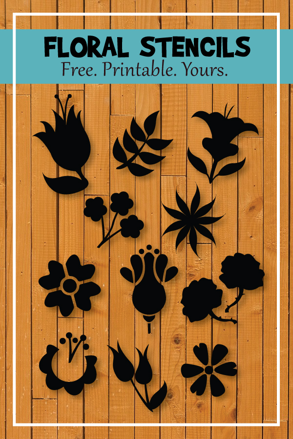 Printable Flower Stencils and Templates