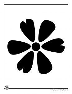 Flower Petals Stencil
