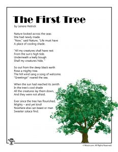 The First Tree Poem for Kids