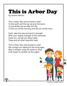 This is Arbor Day Printable Poem