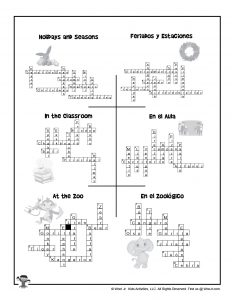 Printable Crossword Puzzles for ESL Classroom