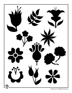 Printable Flower Stencil Template Set