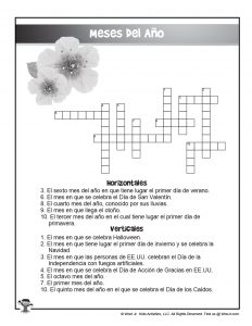 Printable Meses Del Ano Puzzle